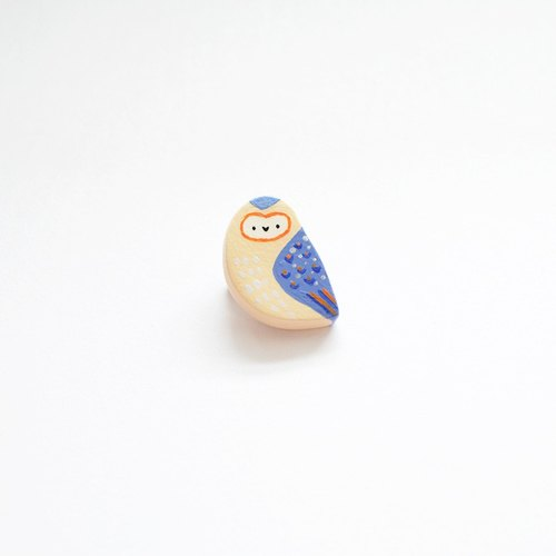 Barn Owl Tiny Badge/Brooch/ Pin