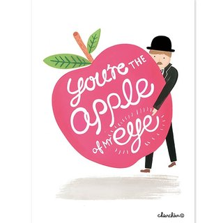 You Are the Apple of My Eye   插画明信片 / 卡片