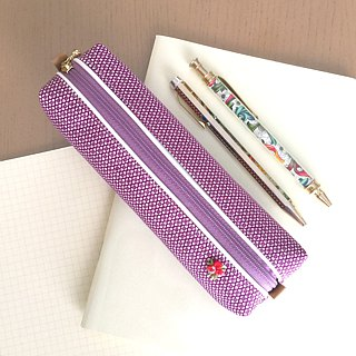 Pen Case with Japanese Traditional pattern, Kimono [Pure Silk]