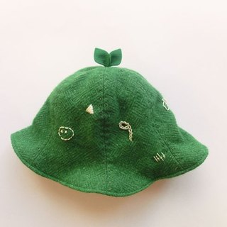 Grow Up! Wool Leaf Hat / Leaves & Nutrients (Green)