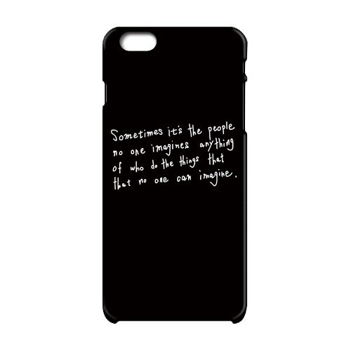 Sometimes people who do not imagine do things that can not be imagined iPhone case