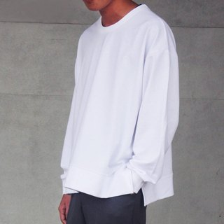 hao Loose Cotton Sweatshirt 薄款落肩开衩卫衣