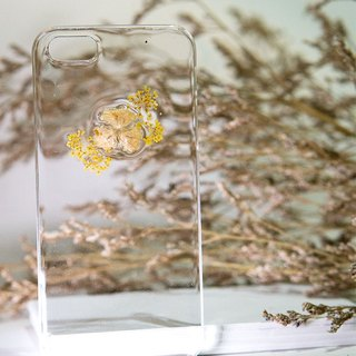 Han Alize - Rapeseed Flower x Baby Breath - 凸面Transparent Case