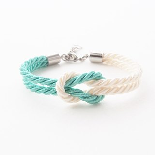 Mint and Ivory cream nautical bracelet