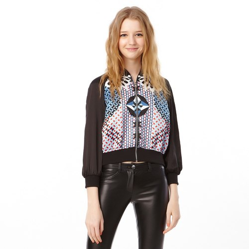SEVEN CRASH: KALEIDOSCOPE BOMBER JACKET / WOMEN