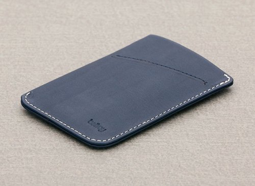澳洲Bellroy Card Sleeve高质感真皮名片夹 (BRY3007_Bluesteel)By plain-me