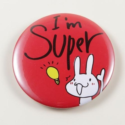 《Foufou》胸章Pins(58mm) -I am Super!