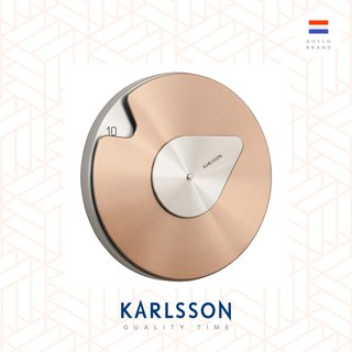 Karlsson, Wall clock Drop w. steel brushed copper 铜色设计师Philipp Gunther 时钟