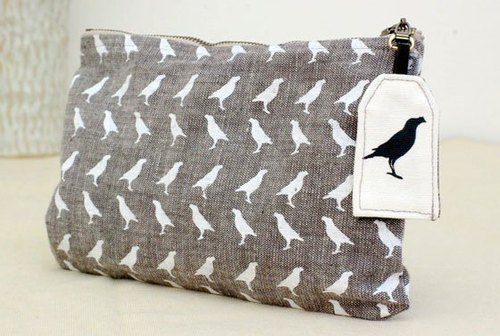 白鸟拉炼扁袋 White Birds Flat Pouch