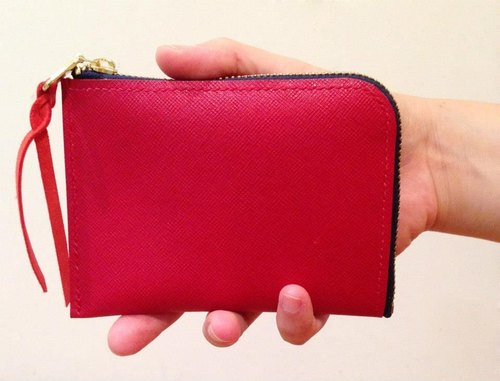 ROUGE皮革小物钱包//法兰西红 Leather Pouch & Coin Purse RED