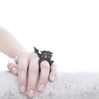 SUE BI DO WA - 手工制作皮革并合手织戒指-SEOUL 100% handmade leather mix with yarn Ring(Seoul)