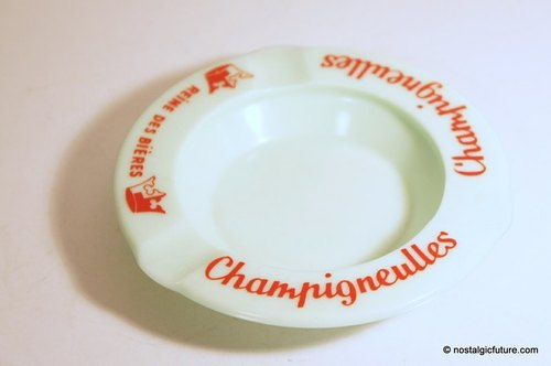 Vintage Champigneulles Ashtray 老物件生活杂货法国制手工玻璃菸灰缸 Made in France