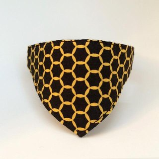 ★ honeycomb-ish ★ ring pattern and cats for bandana-style collar / corner there can (from kitten to adult cats)