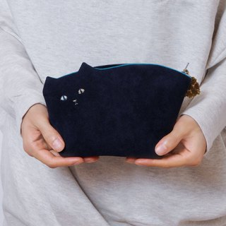 Kittenko Pouch 004 No. navy 【Make-to-order production】