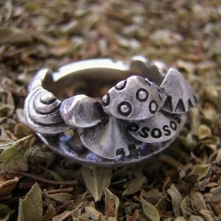fungus forest ( mushroom rabbit silver jewelry ring 蘑 菇 菌 兔 兎 指杯 戒指 銀 )