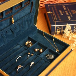 Jewelry Book Box : Navy Blue