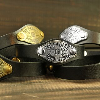 Brass Tag Leather Bracelet 经典铜牌皮手环
