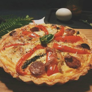 培根功封蕃茄野菇咸派 Bacon Tomato Confit and Mushroom Quiche