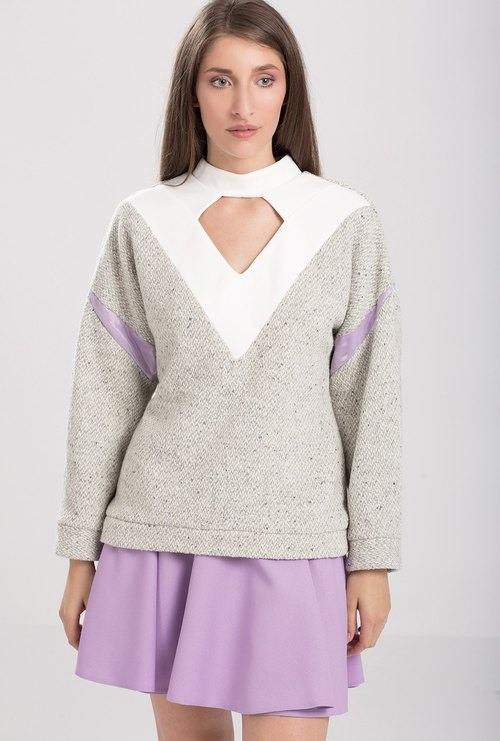 Wool-blend Oversized Sweatshirt