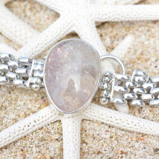 Silver bracelet of the sun stone sunstone