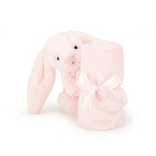 Jellycat Bashful Pink Bunny Soother 兔子安抚巾 约33x33厘米