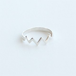 [Order production] ring / 950 silver zigzag design