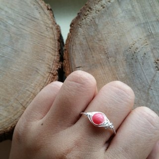 Please provide size when order- gold-plated/silver-plated ring with rhodochrosite 新款 红纹石镀银 戒指