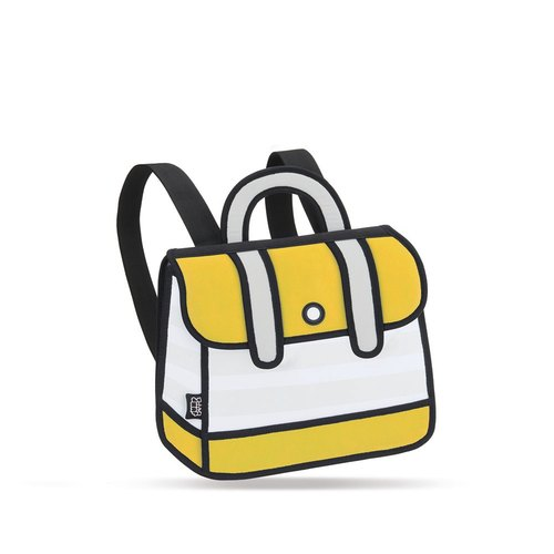 JumpFromPaper™ Yellow Stripe Backpack 后背包(黄)