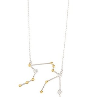 Aquarius Necklace - white gold
