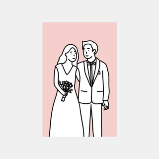 Wedding Postcard (Pink)
