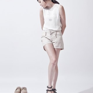 女活褶短裤 SHORTPANTS WITH SOFT PLEATS