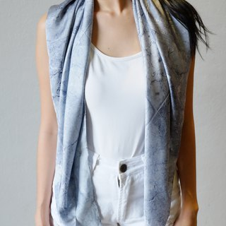 Grey Concrete Scarf