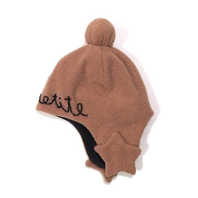 Star motif baby flight cap  orengeBrown