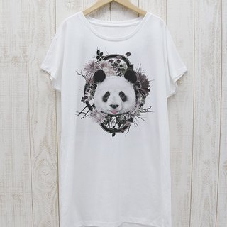 ronronPANDA One Piece Tee Flower Frame (White) / RPT 024 - WH
