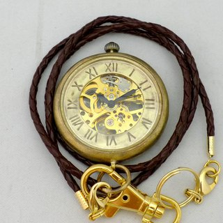 Handmade watch hand winding pocket watch oversized JUMBO Brass Komaru Case (BHW 110 BR)