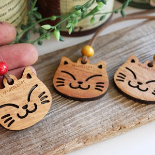 Cat necklace wooden