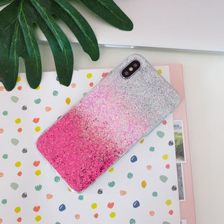 pink ombre | case, phone case, glitter case, iphone case, samsung case