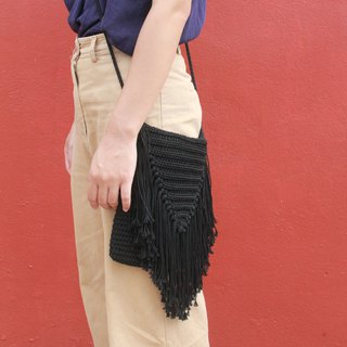 Crossbody bag ,Black Crochet bag ,Crochet bag Boho Bag