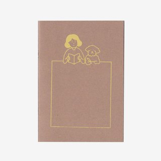 always with dogs | Silkscreen print notebook (blank)