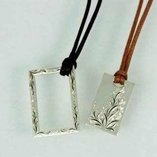 Hanate carved pair frame necklace set of the month