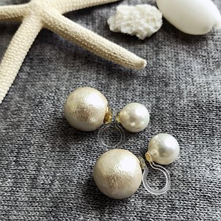 Cotton Pearl with a catch to [Pierce] shellfish Pearl + 14KGF! / DollPr03