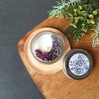 Botanical Hand-Poured Scented Soy Wax Candle | Dried Flower Candle 250g