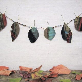 Autumn leaf garland 5