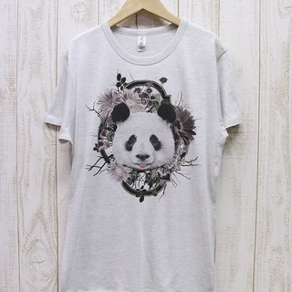 ronronPANDA Tee Flower Frame (Heather White) / RPT006-HWH