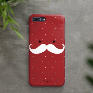 iphone case red mustache man for iphone5s, 6s, 6s plus, 7, 7+, 8, 8+, iphone x