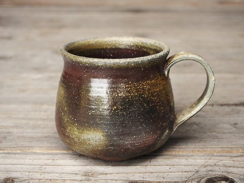 Bizen coffee cup (large) _ c 8 - 027