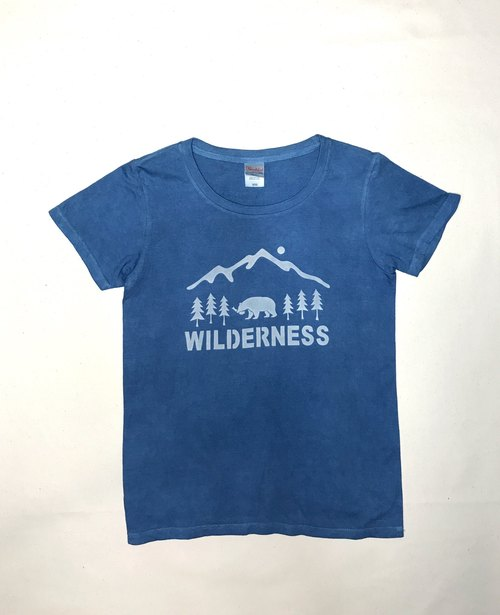 【Order Production】 Indigo dyed Aizen - WILDERNESS TEE