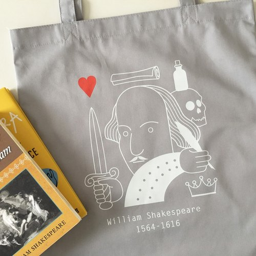 Shakespeare Tote-Bag (Gray)