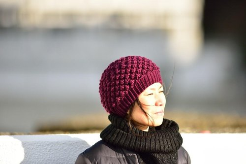 Snow bubble hat (engine) Merino wool