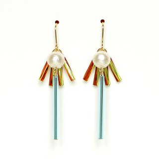 sun beam - light blue Beads earrings / earrings